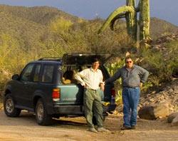 Tom and Jim at El Kim in Zin Picnic Area