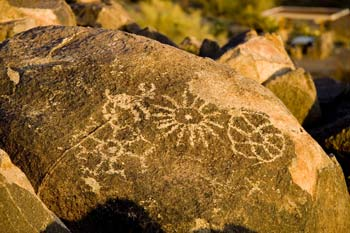 Petroglyphs on Bajada Loop Drive at Signal Hill Picnic Area